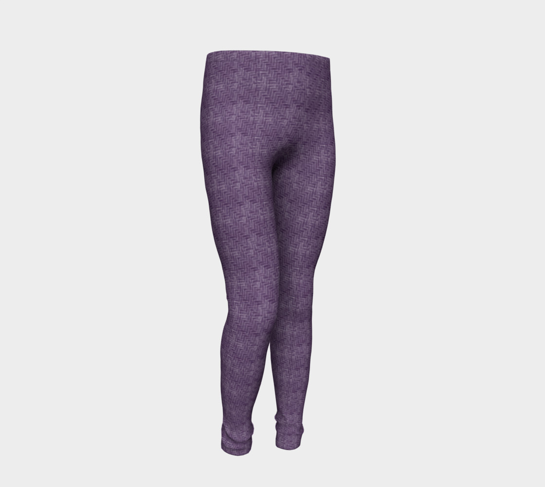 Purple Weave Youth Leggings preview #2