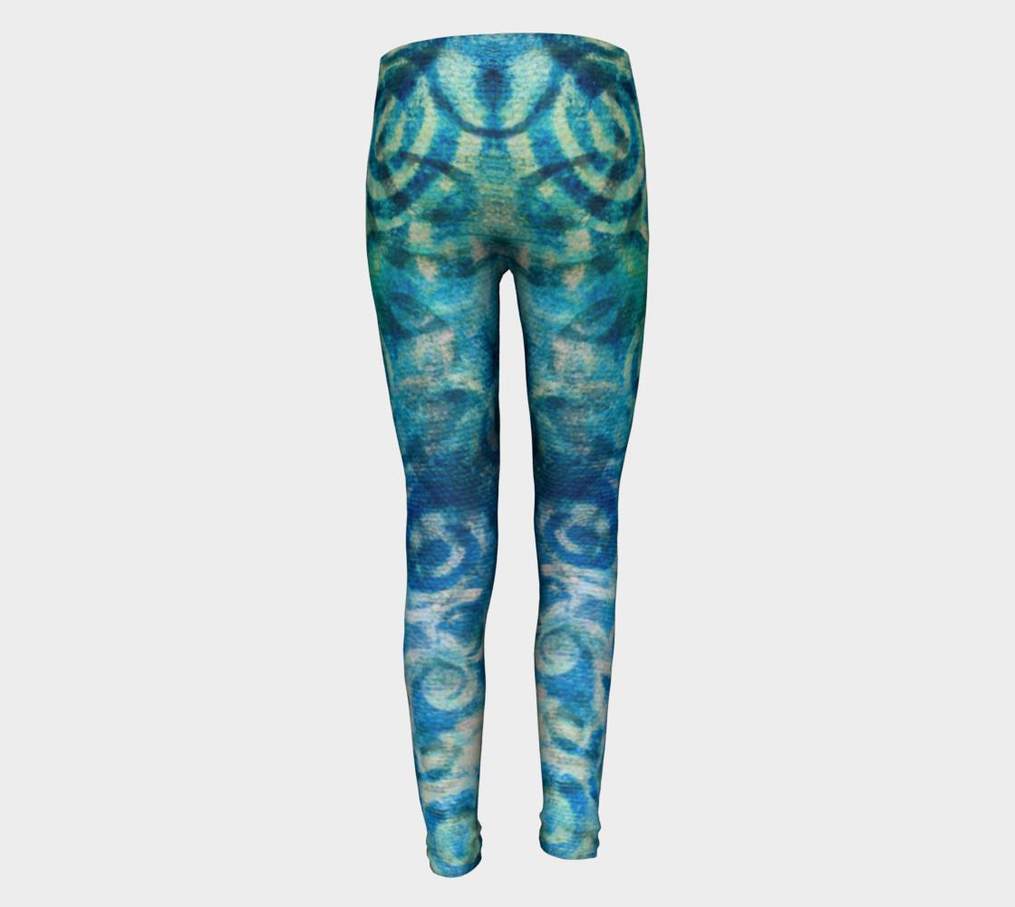 Aperçu de Blue Swirl Youth Legging #5