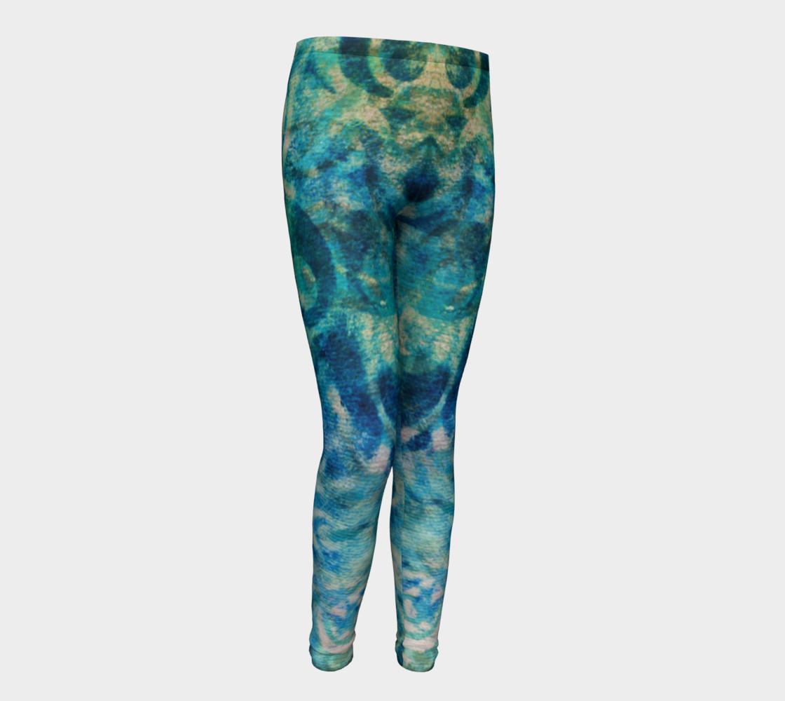 Aperçu de Blue Swirl Youth Legging #1