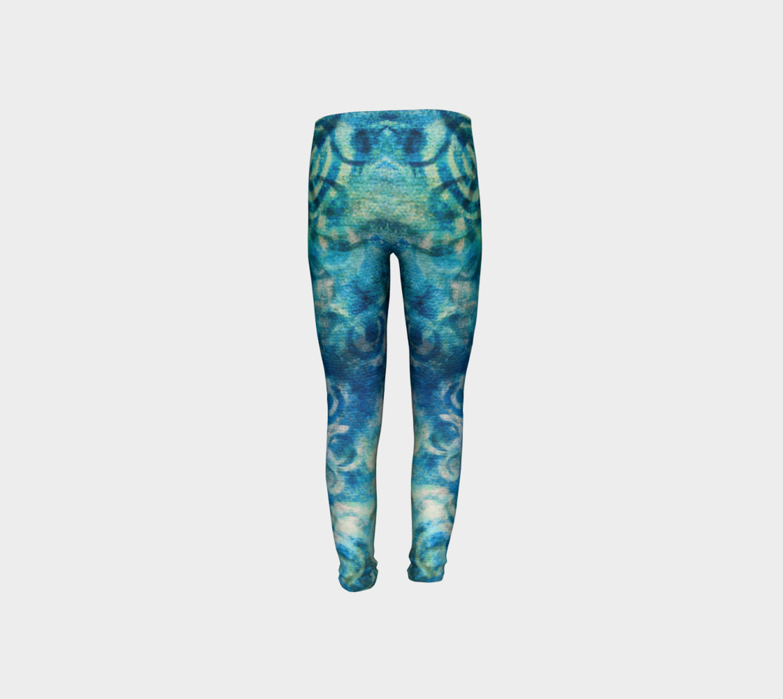 Aperçu de Blue Swirl Youth Legging #8