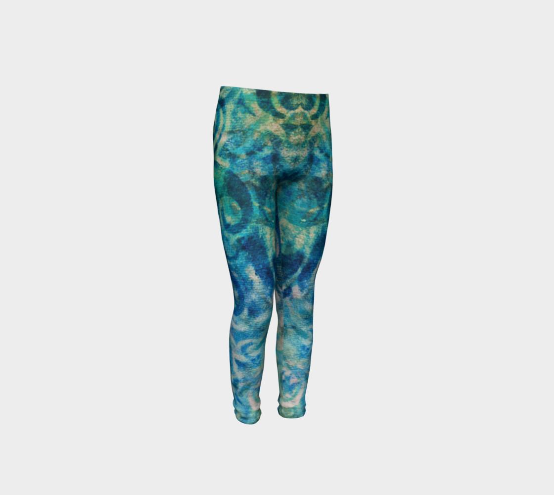 Aperçu de Blue Swirl Youth Legging #4