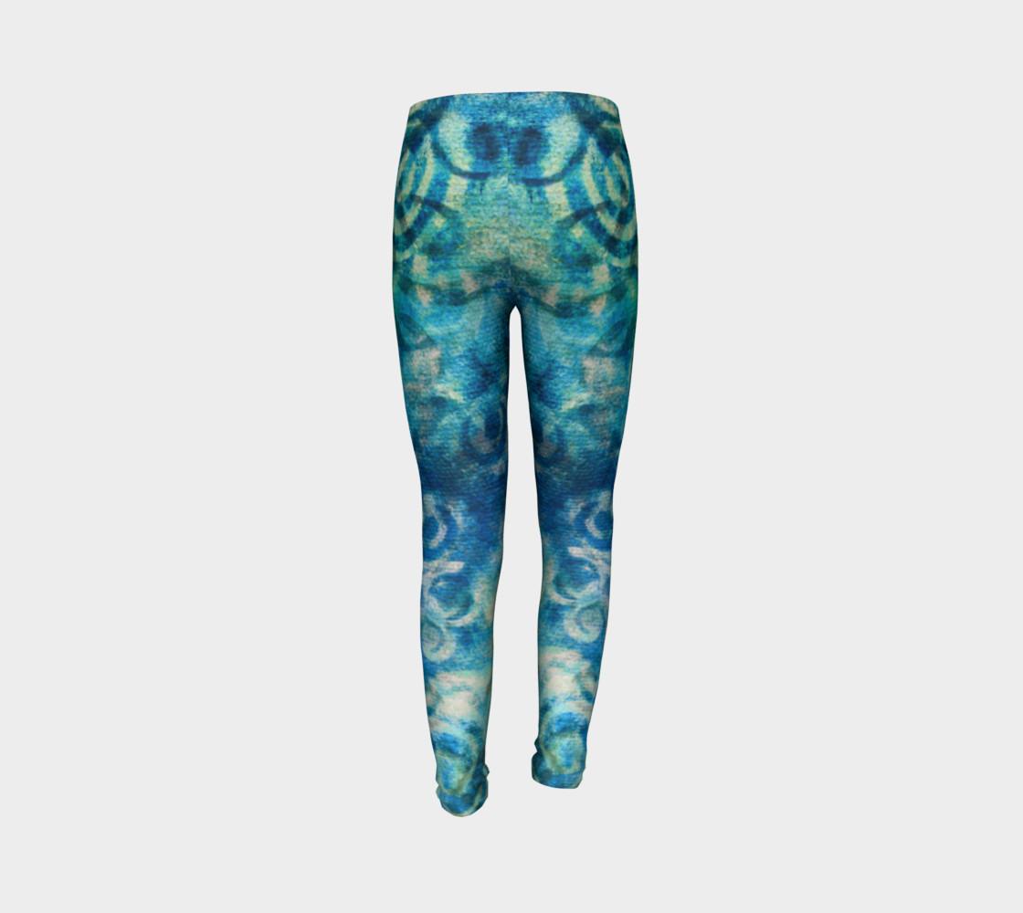 Aperçu de Blue Swirl Youth Legging #7
