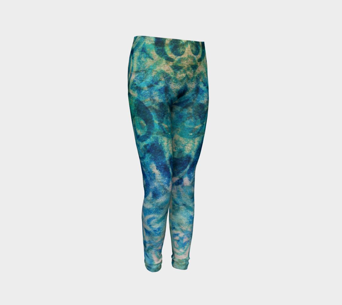 Aperçu de Blue Swirl Youth Legging #3
