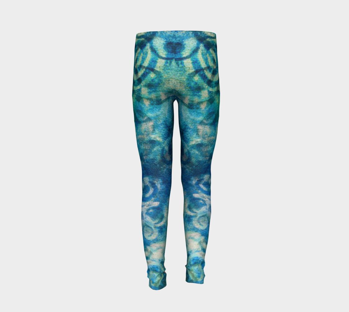 Aperçu de Blue Swirl Youth Legging #6