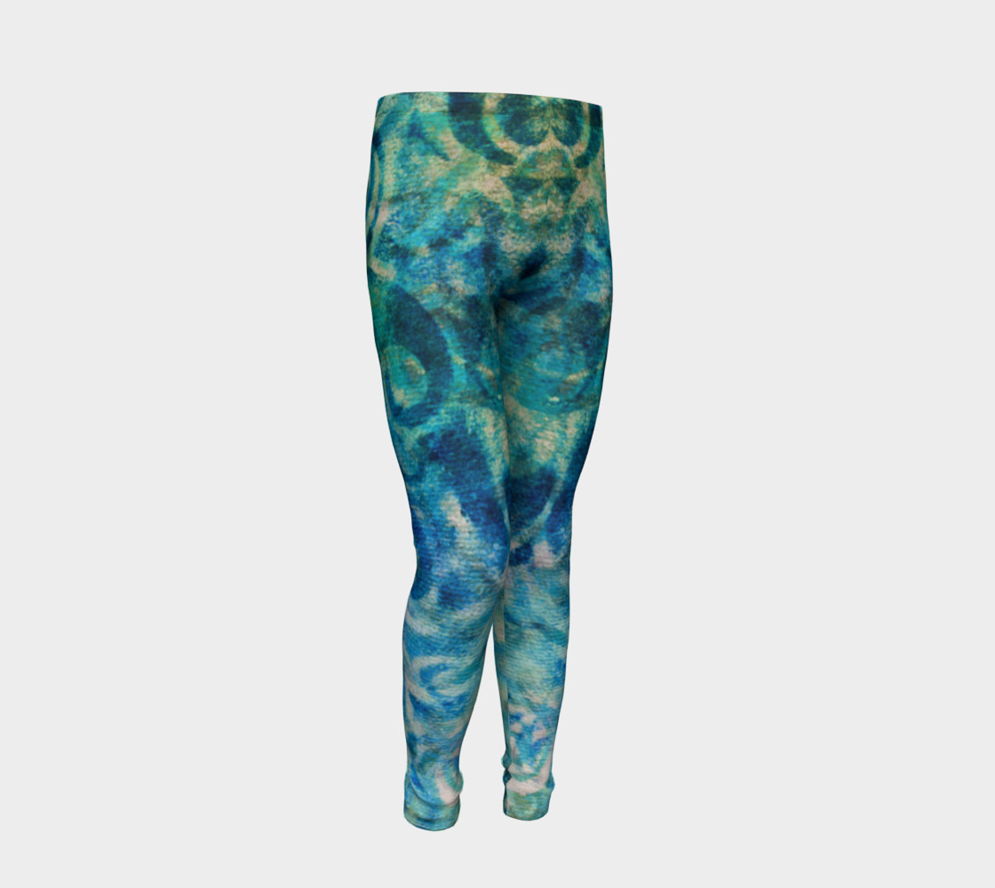 Aperçu de Blue Swirl Youth Legging #2