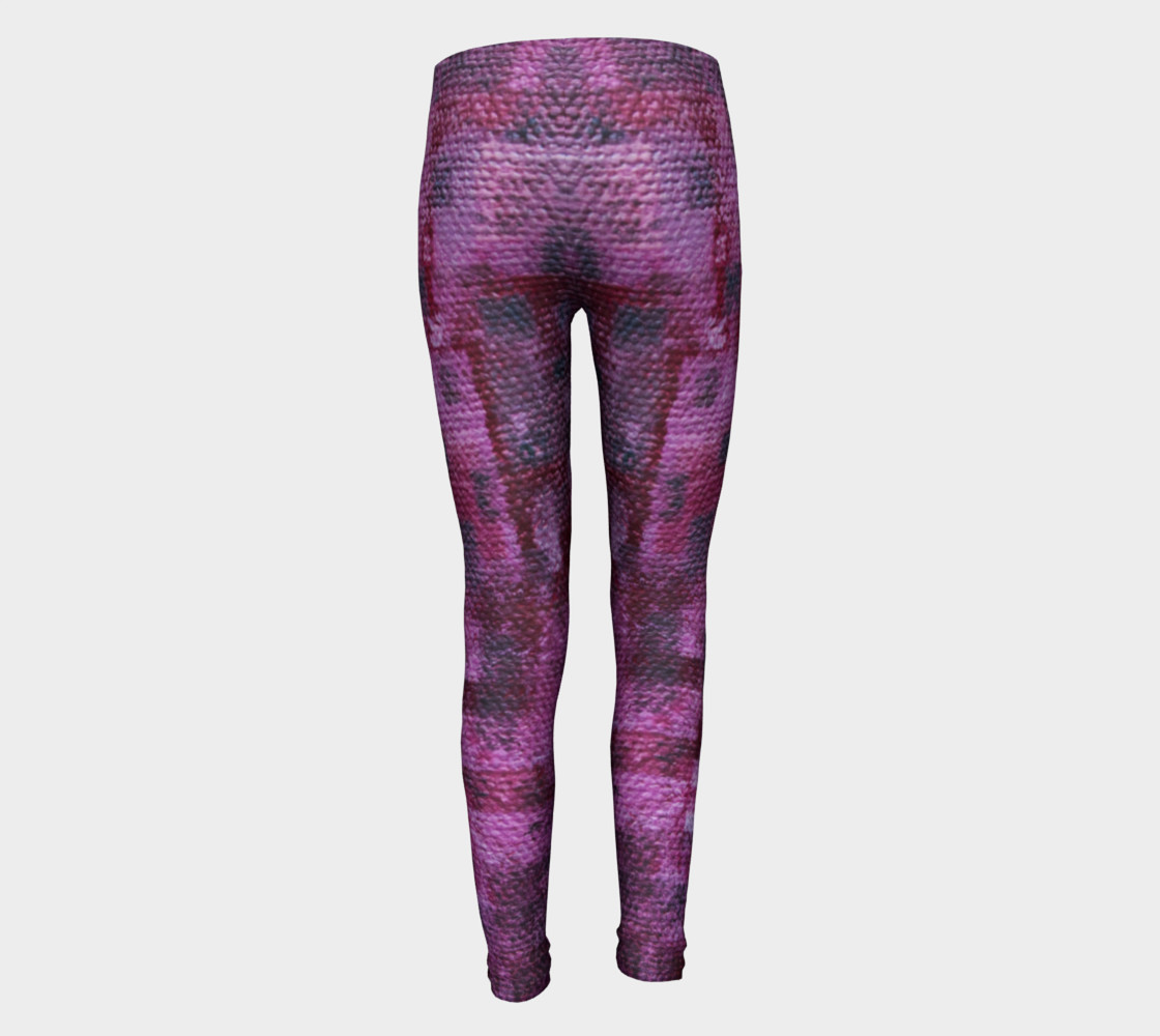 Pink Mosaic Youth Leggings preview #5