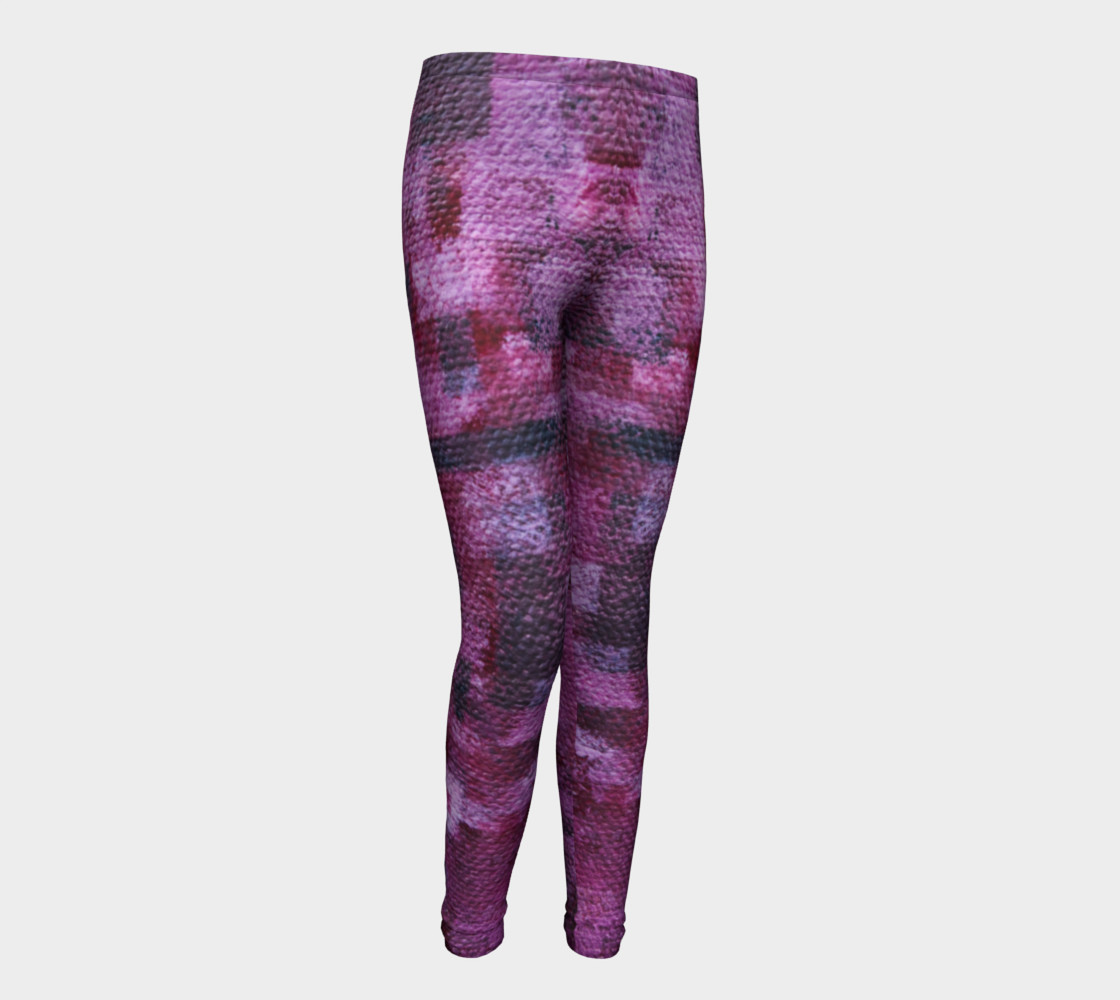 Pink Mosaic Youth Leggings preview #1