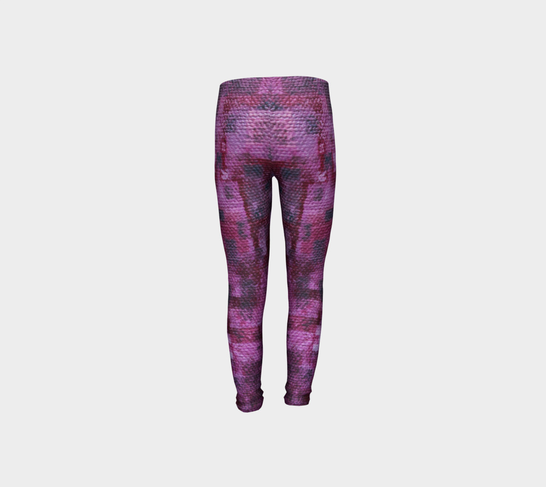 Pink Mosaic Youth Leggings preview #8