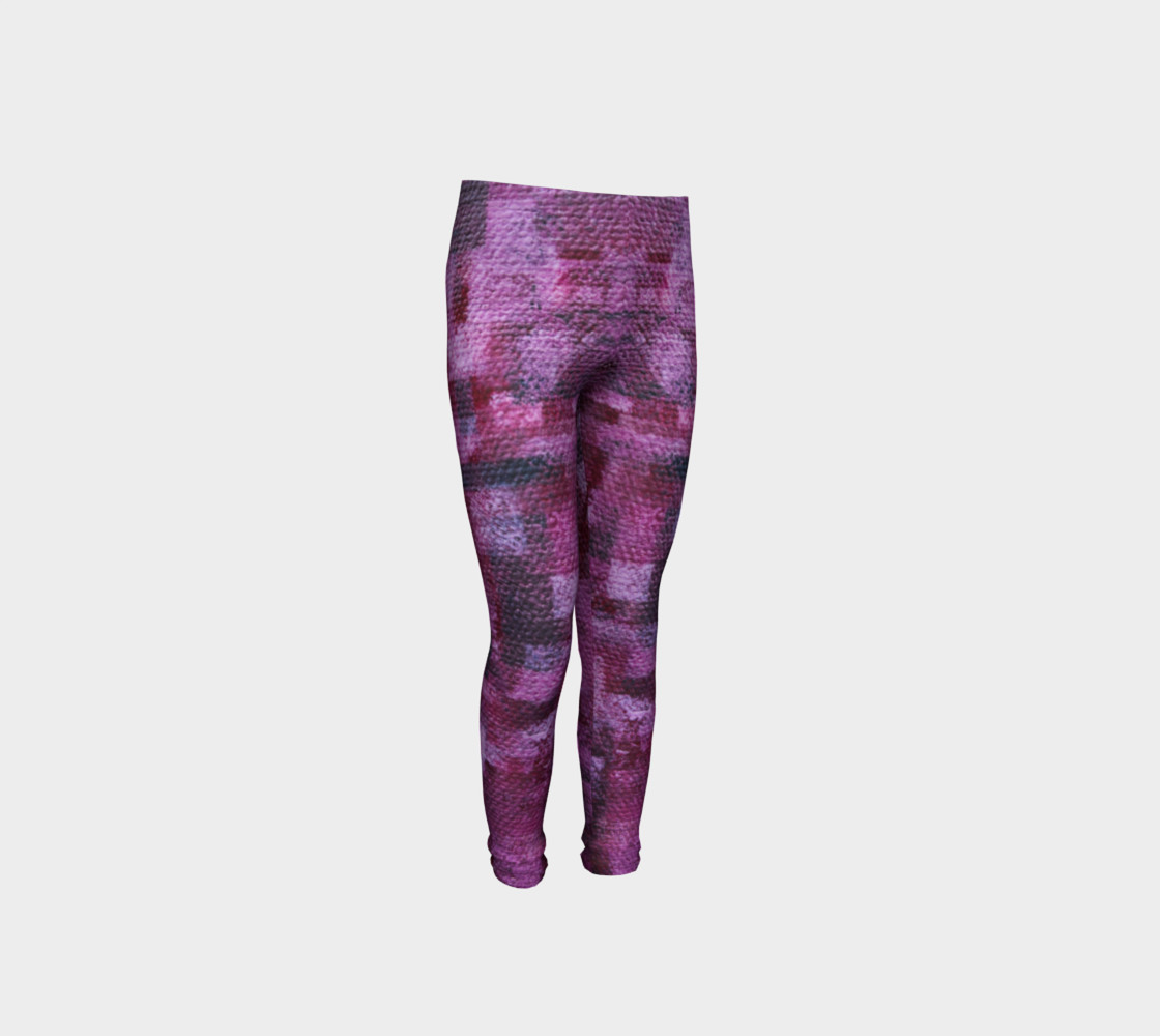 Pink Mosaic Youth Leggings preview #4