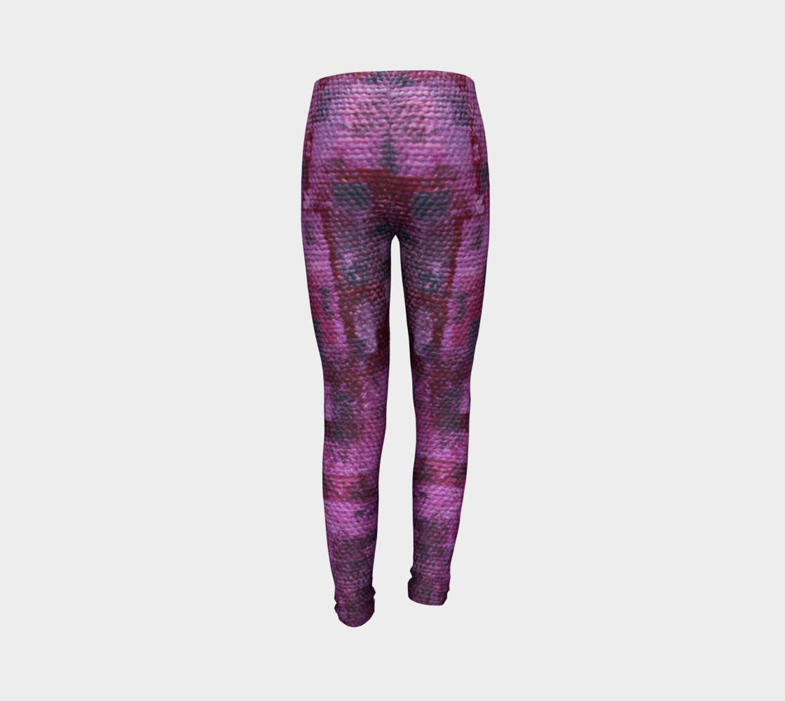 Pink Mosaic Youth Leggings preview #7