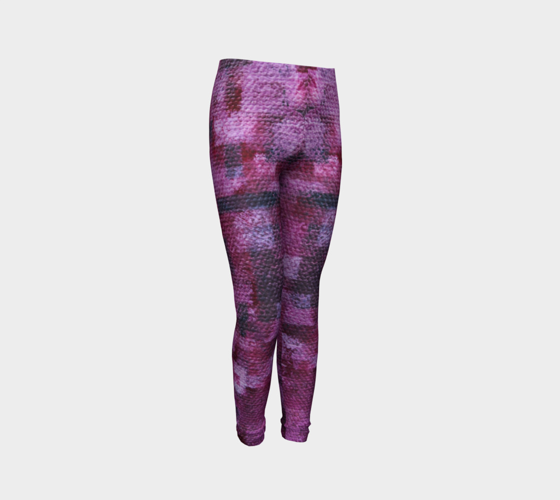 Pink Mosaic Youth Leggings preview #3