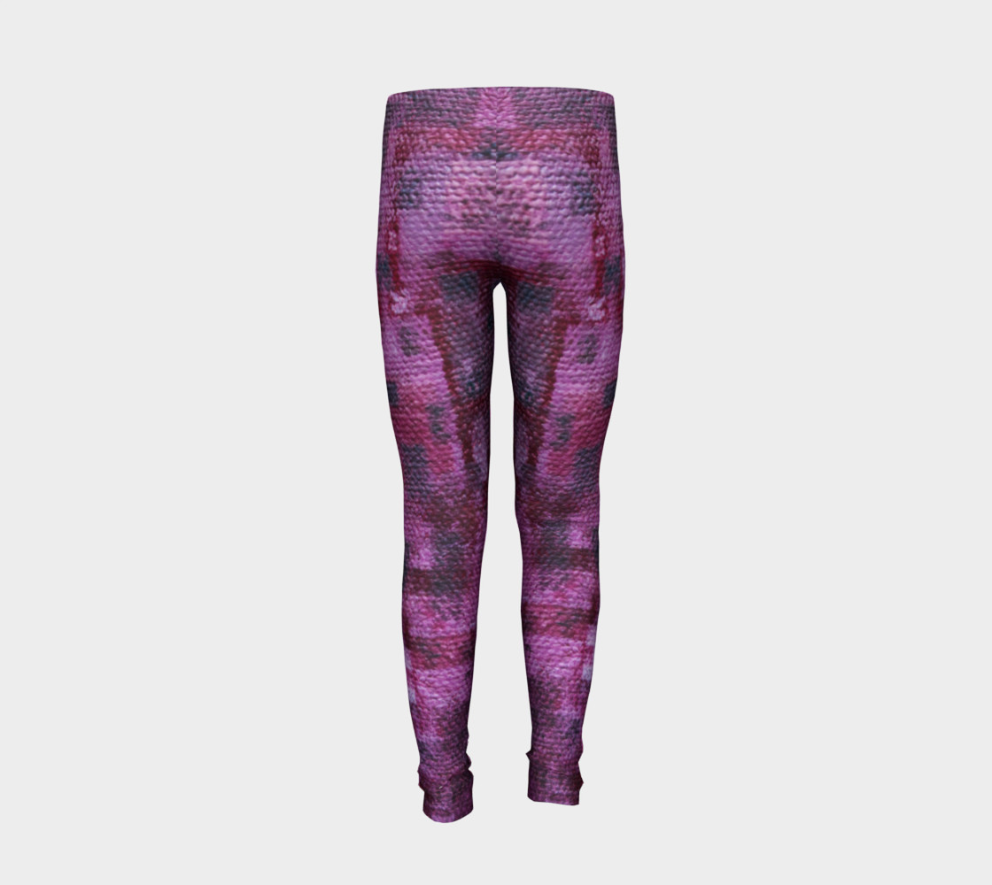 Pink Mosaic Youth Leggings preview #6