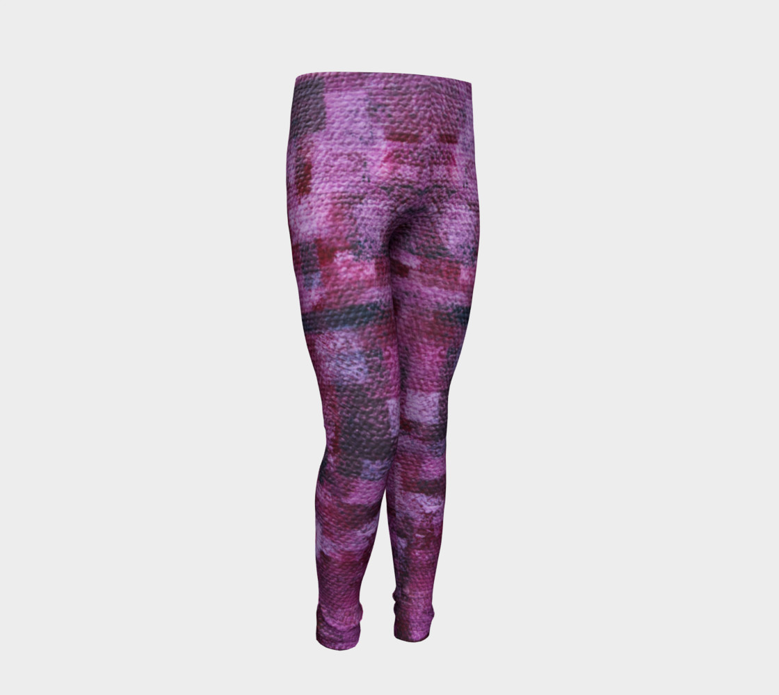 Pink Mosaic Youth Leggings preview #2