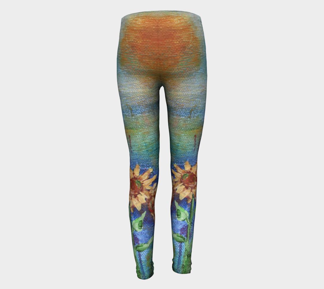 Sunflower Denim Youth Leggings preview #5