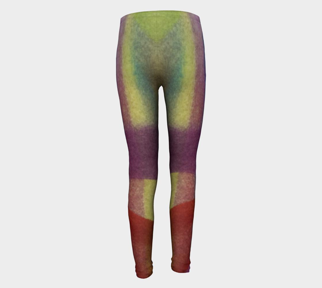 Aperçu de Tropical Watercolor Youth Leggings #5