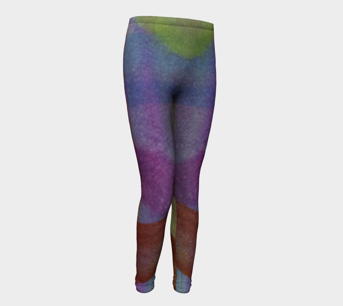 Aperçu de Tropical Watercolor Youth Leggings #1