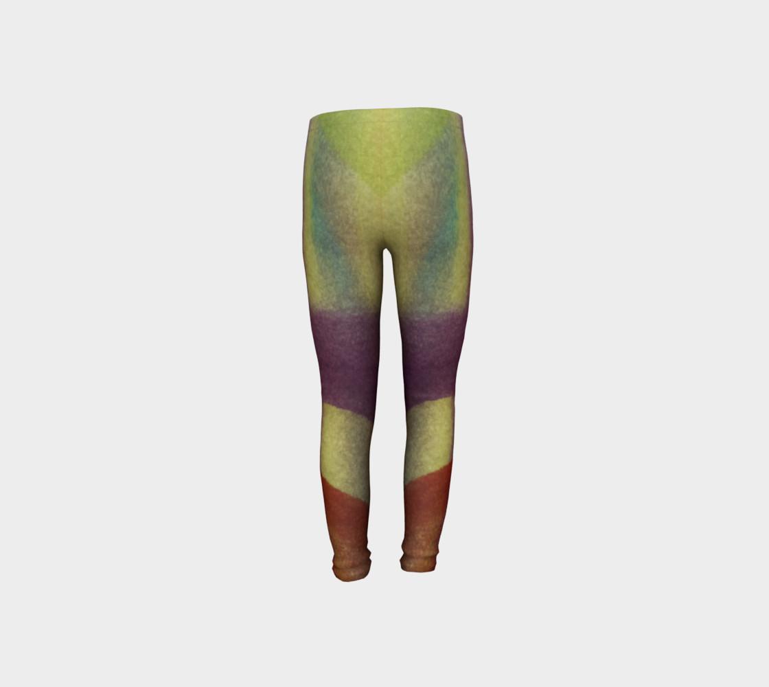 Aperçu de Tropical Watercolor Youth Leggings #8