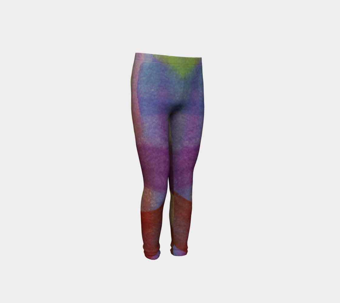 Aperçu de Tropical Watercolor Youth Leggings #4
