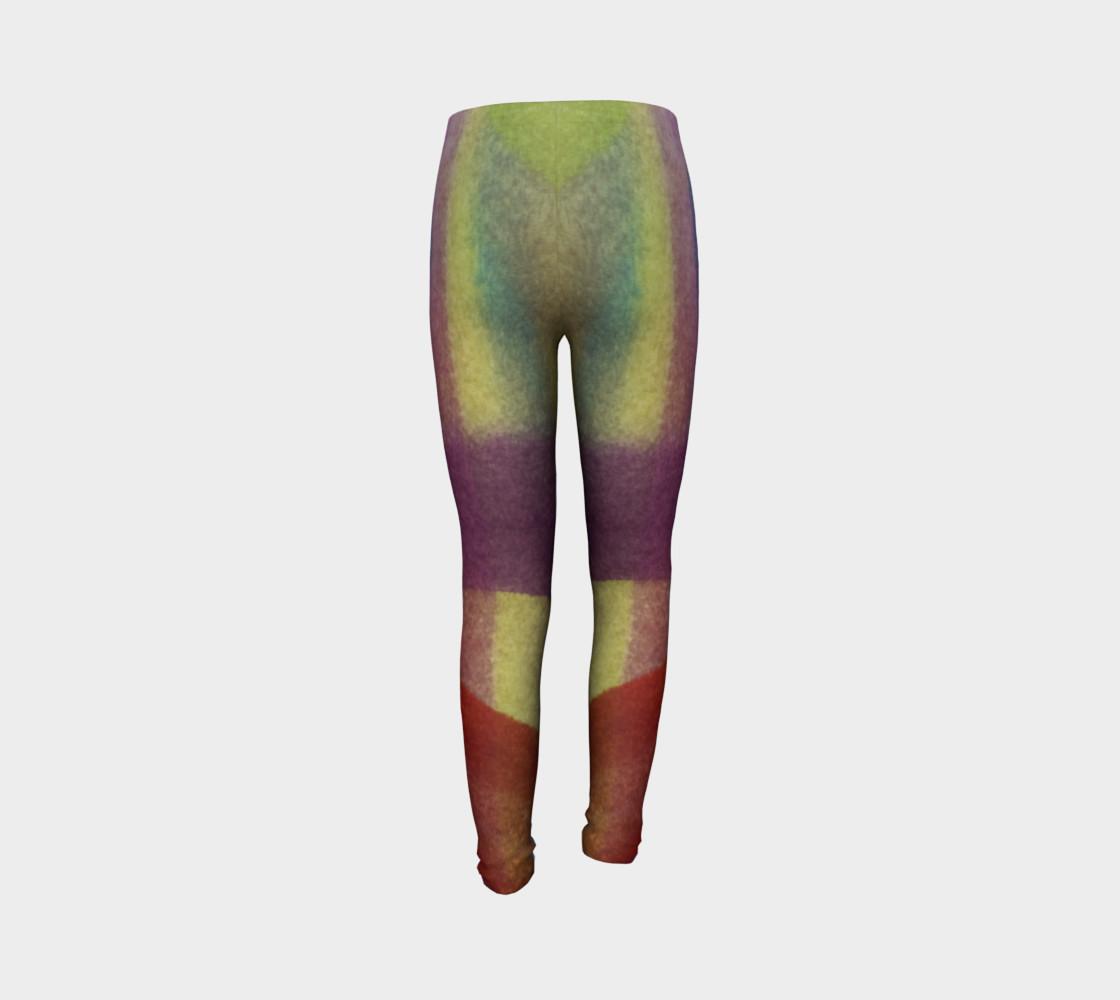 Aperçu de Tropical Watercolor Youth Leggings #7