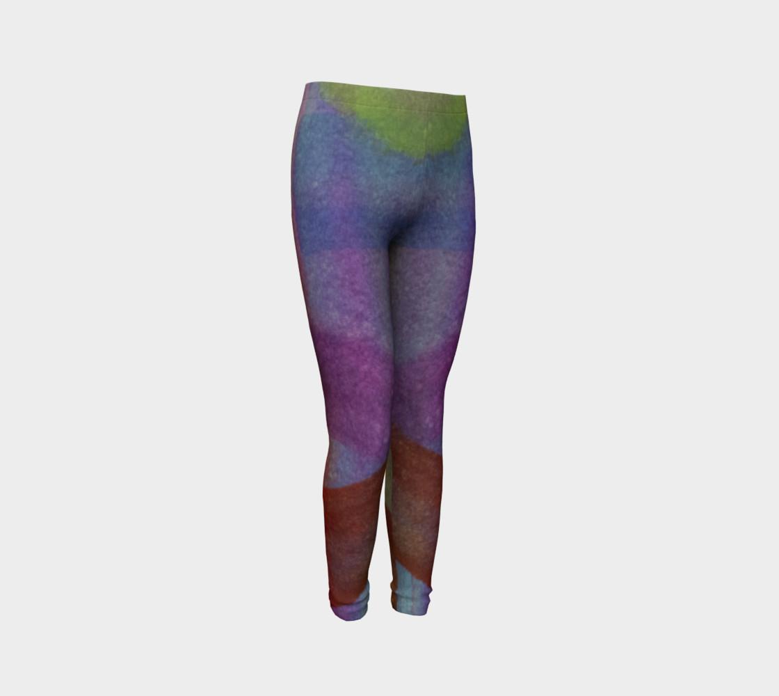Aperçu de Tropical Watercolor Youth Leggings #3
