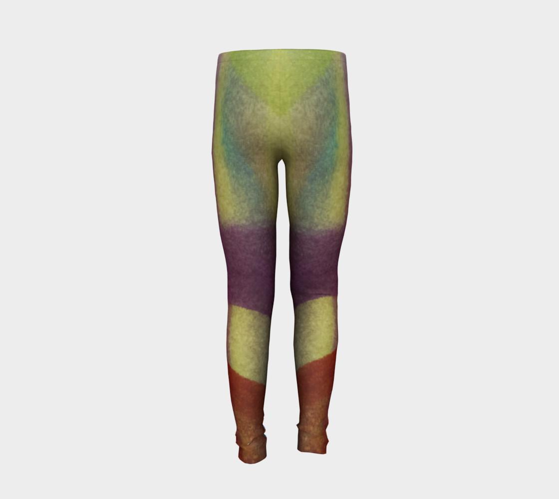 Aperçu de Tropical Watercolor Youth Leggings #6