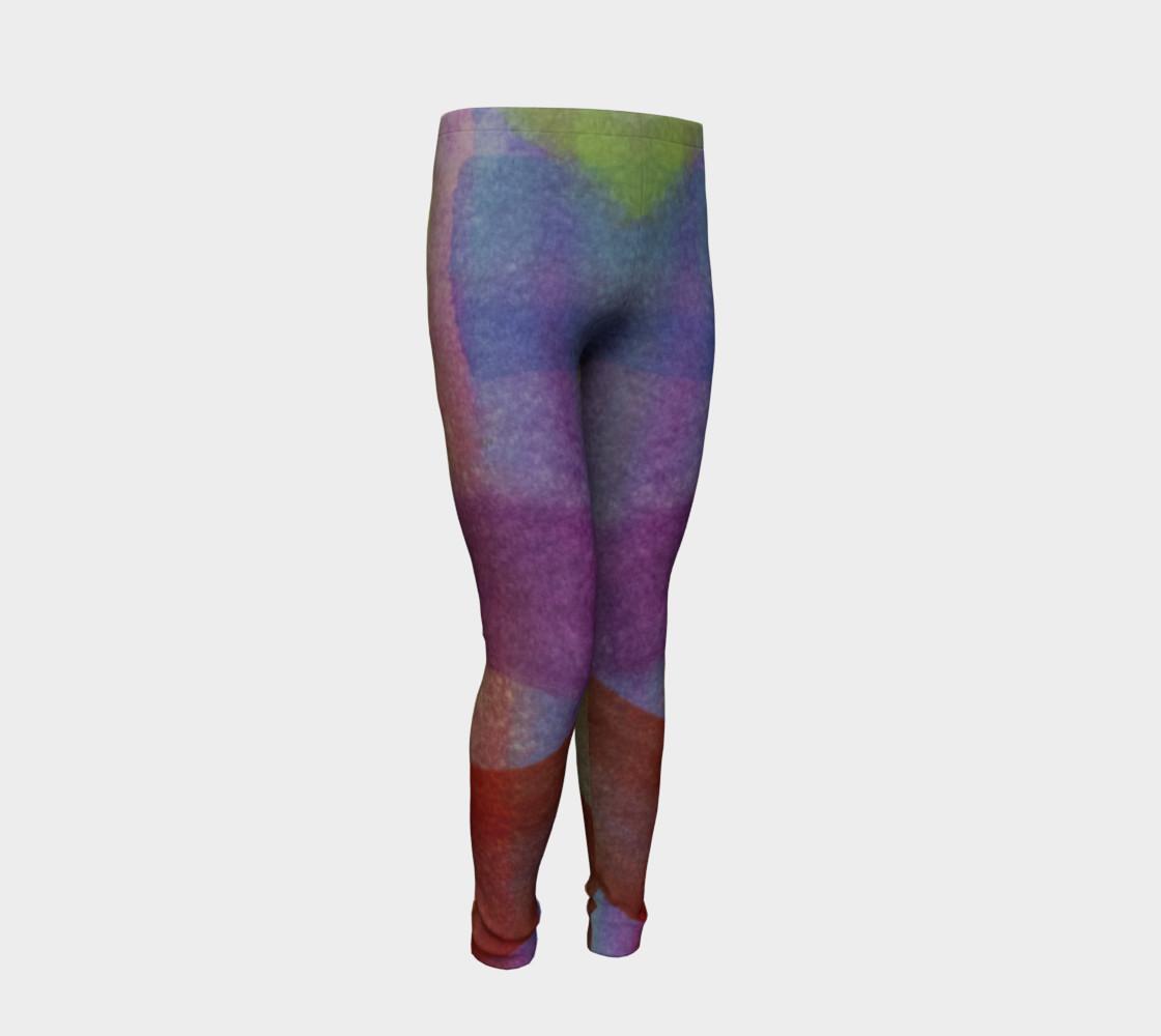 Aperçu de Tropical Watercolor Youth Leggings #2