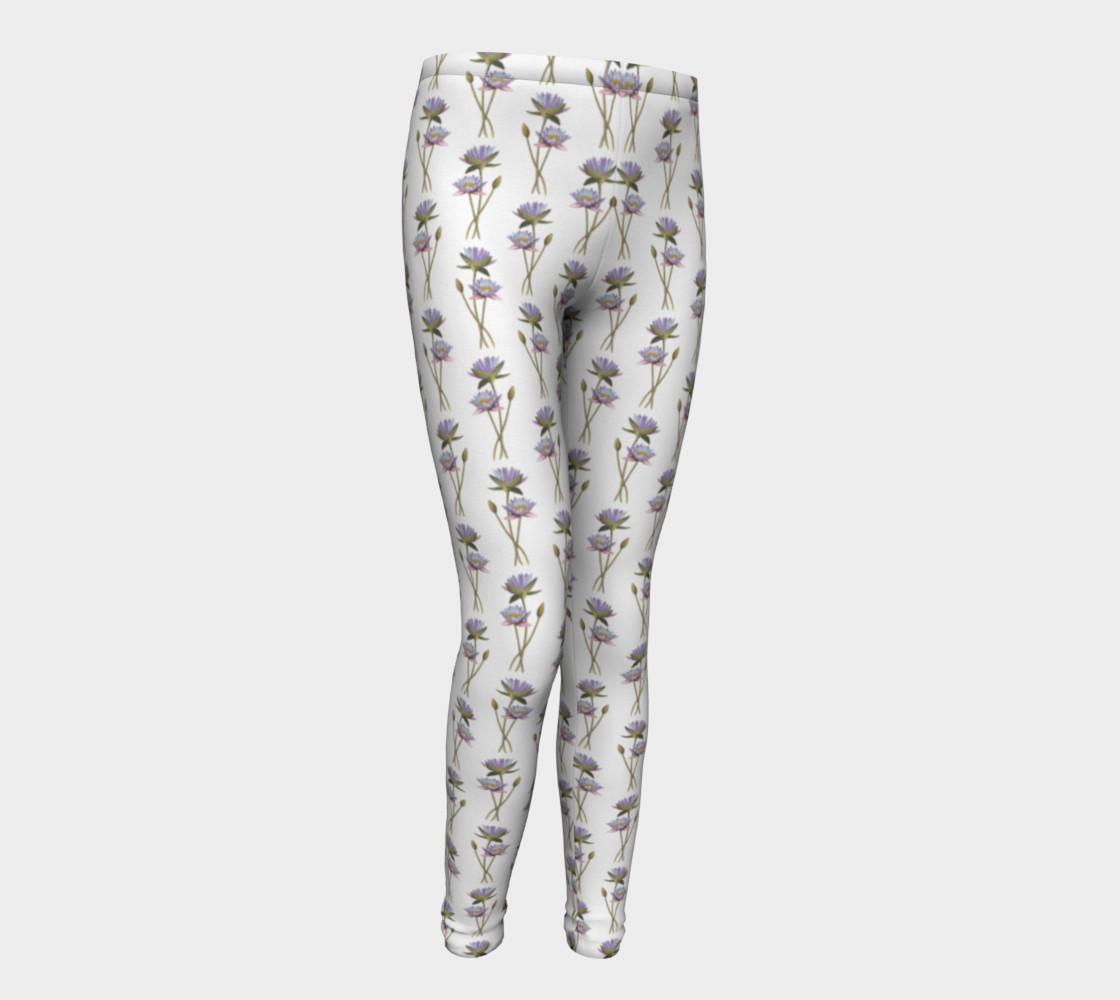 Lotus flowers pattern Youth Leggings preview #1