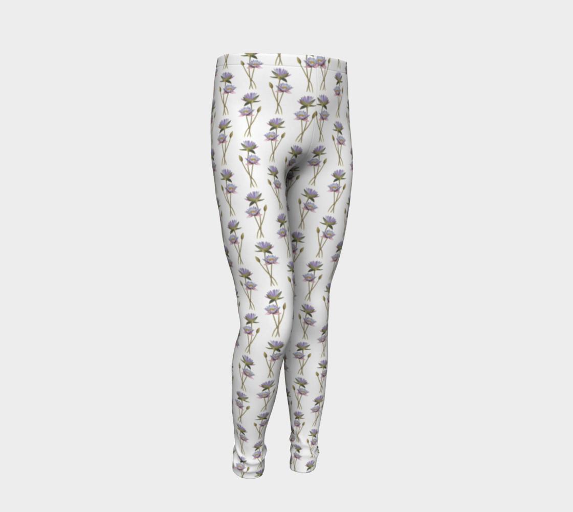 Lotus flowers pattern Youth Leggings preview #2
