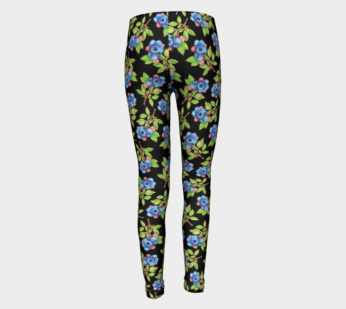 Blueberry Sprig Youth Leggings preview #5