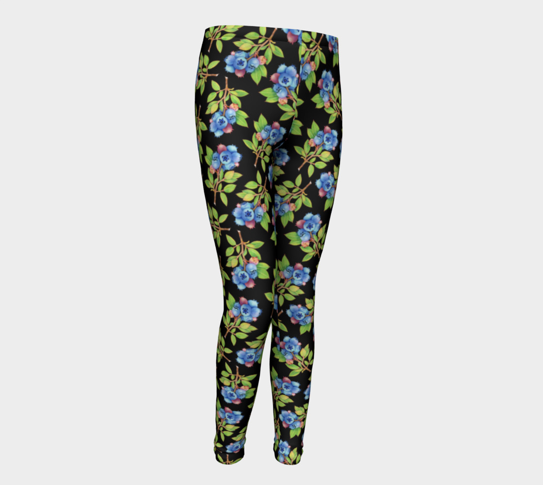 Blueberry Sprig Youth Leggings preview #1