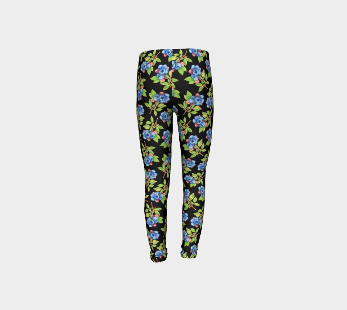 Blueberry Sprig Youth Leggings preview #8