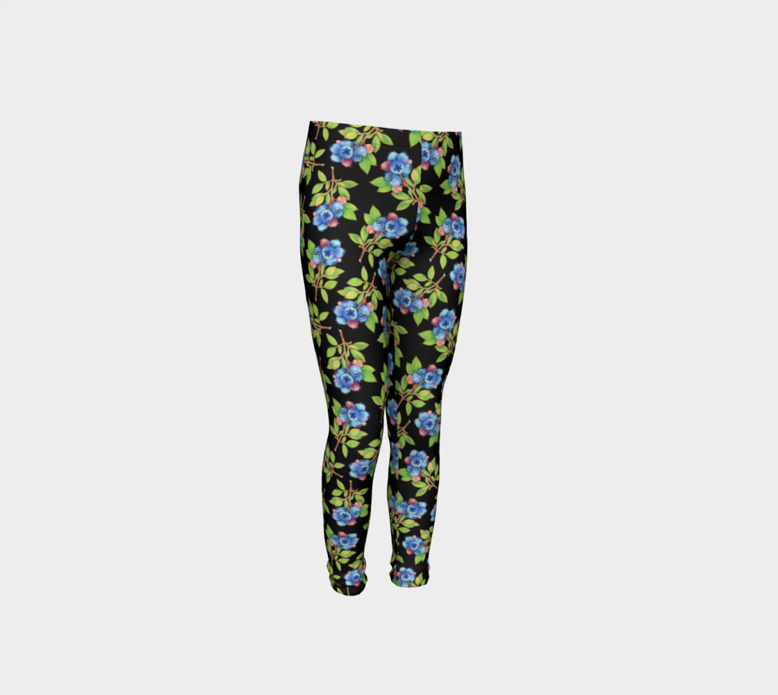 Blueberry Sprig Youth Leggings preview #4