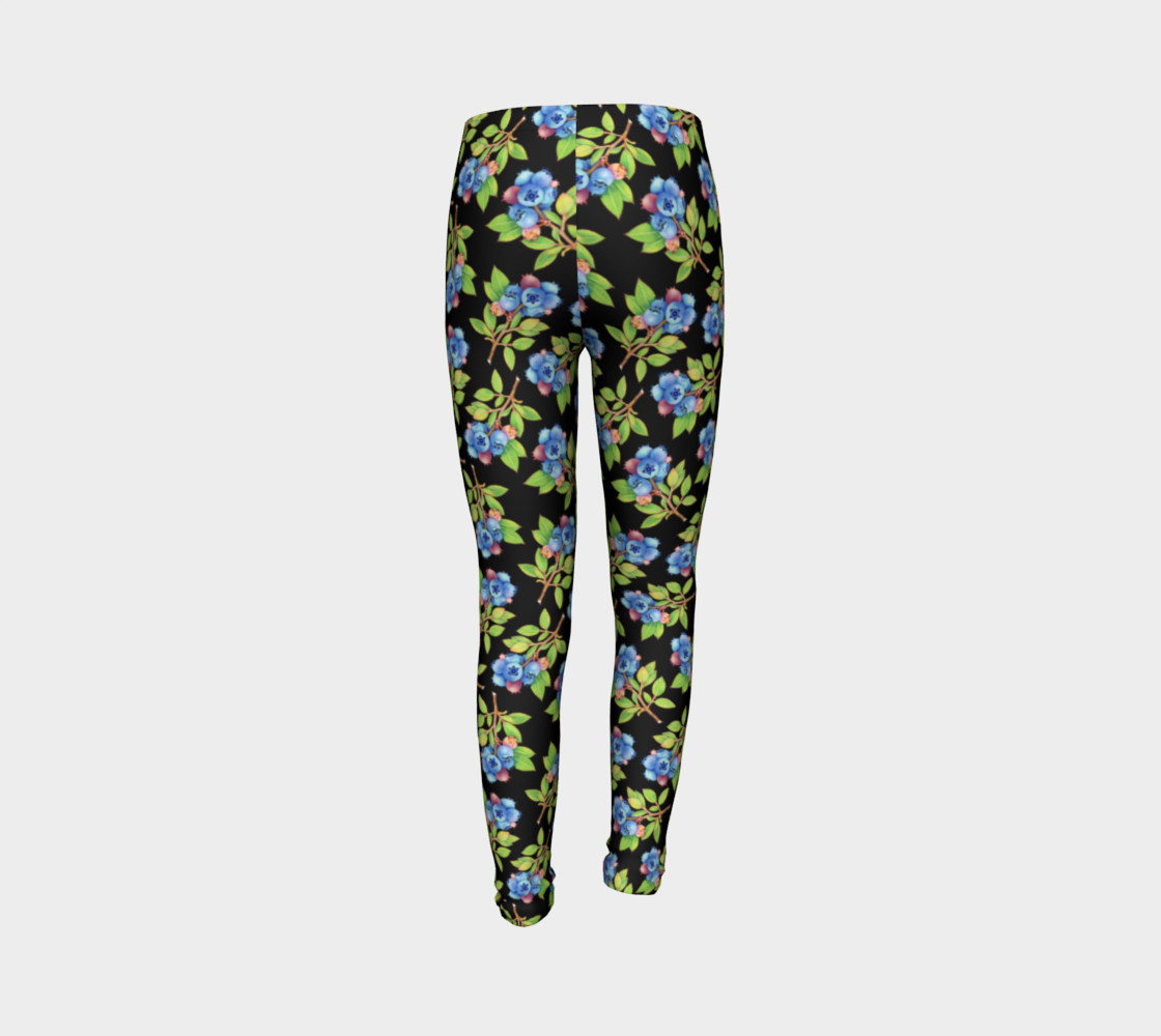 Blueberry Sprig Youth Leggings preview #7