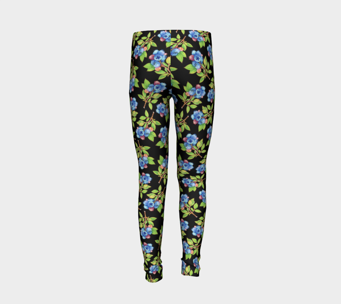Blueberry Sprig Youth Leggings preview #6