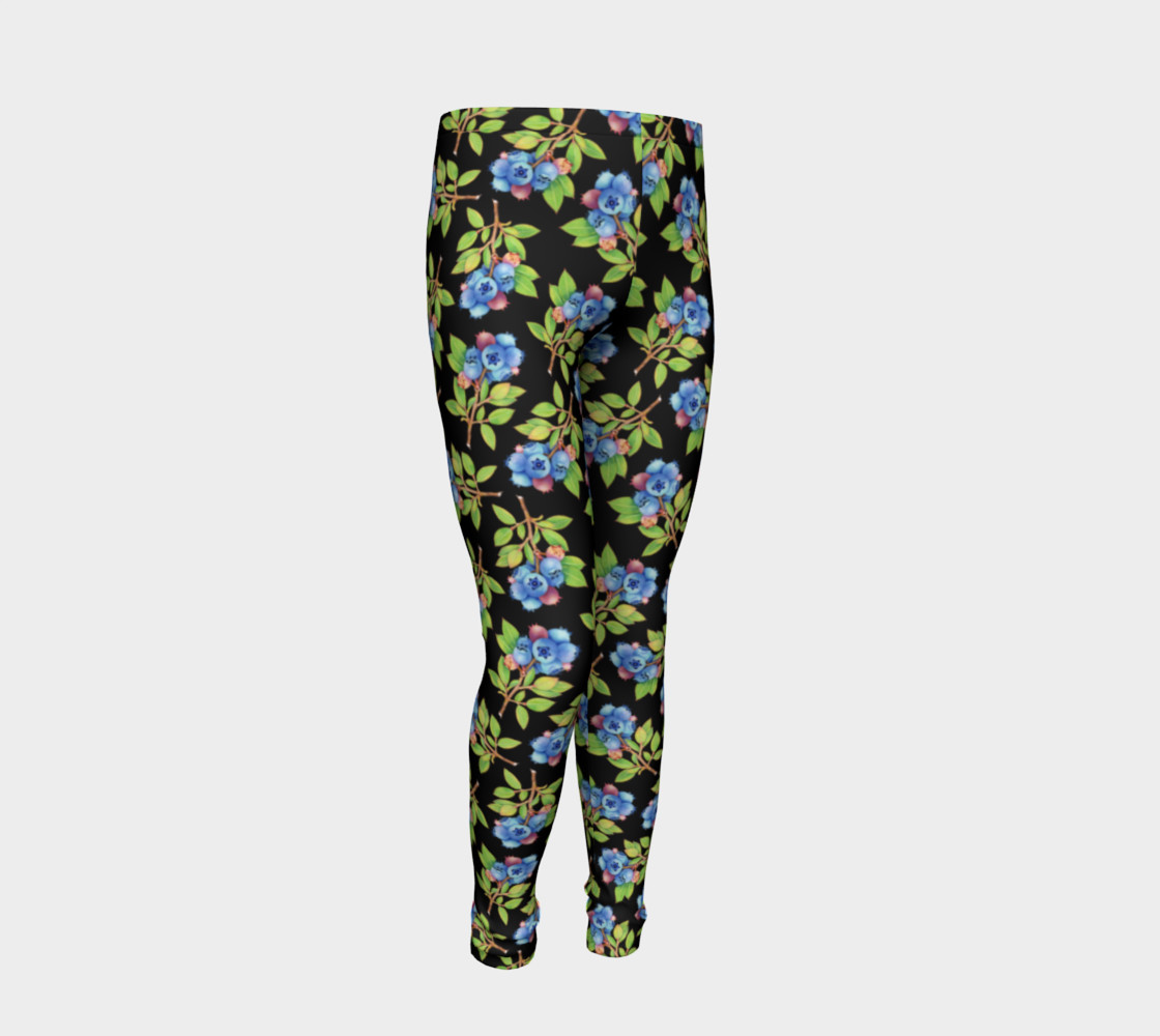 Blueberry Sprig Youth Leggings preview #2