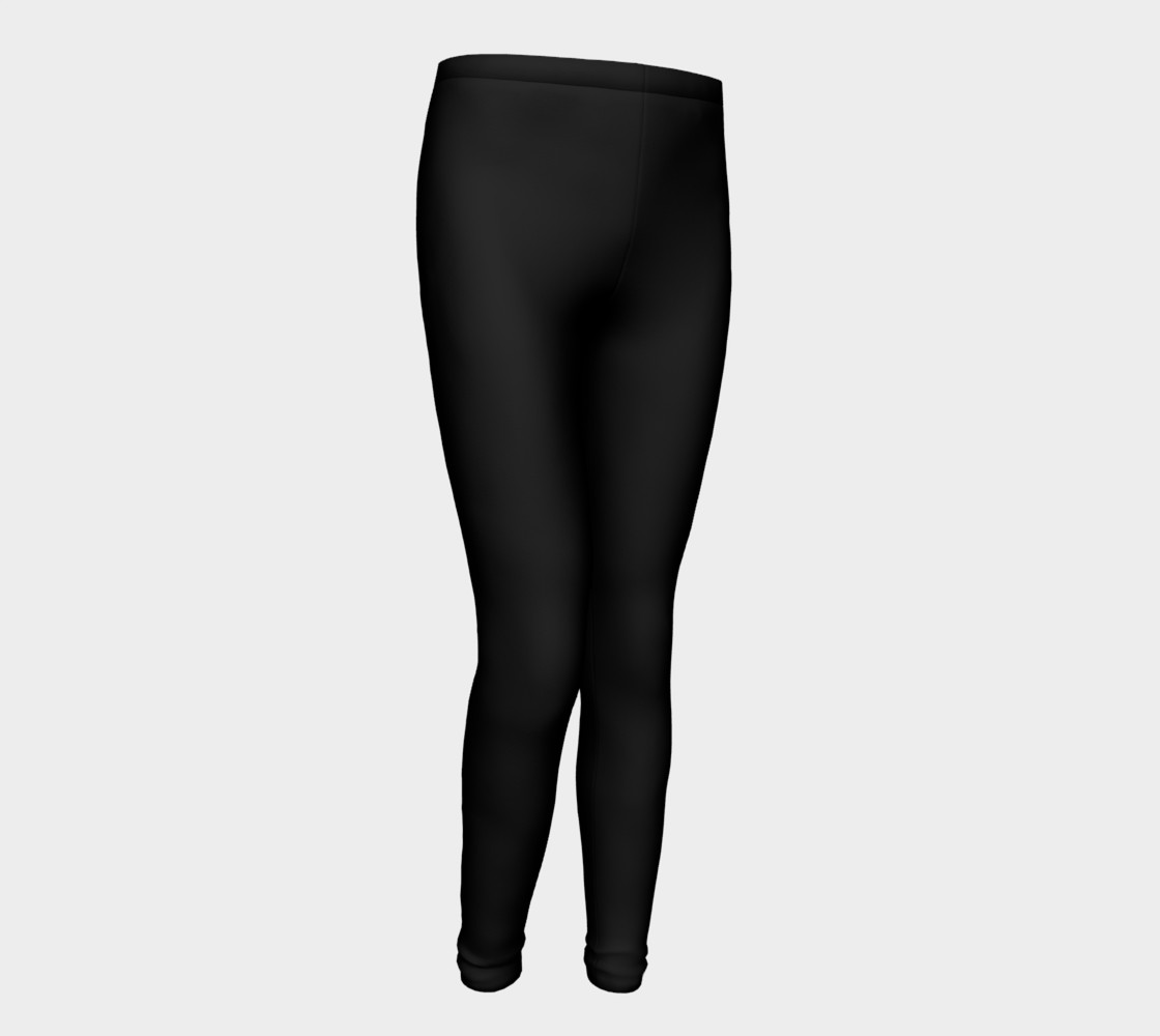 Black Colored Youth Leggings preview #1