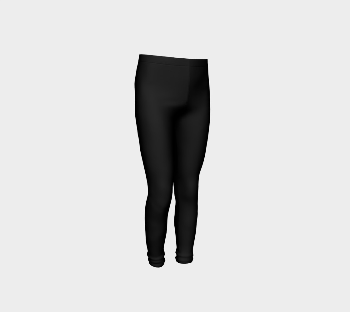 Black Colored Youth Leggings preview #4