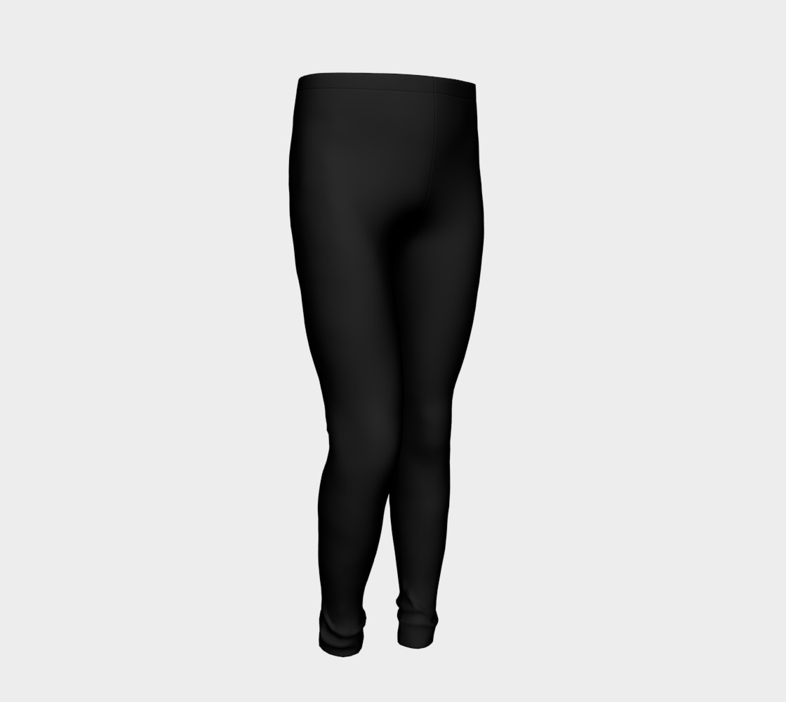 Black Colored Youth Leggings preview #2