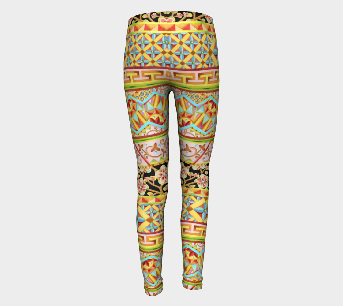 Gypsy Stripe Youth Leggings preview #5