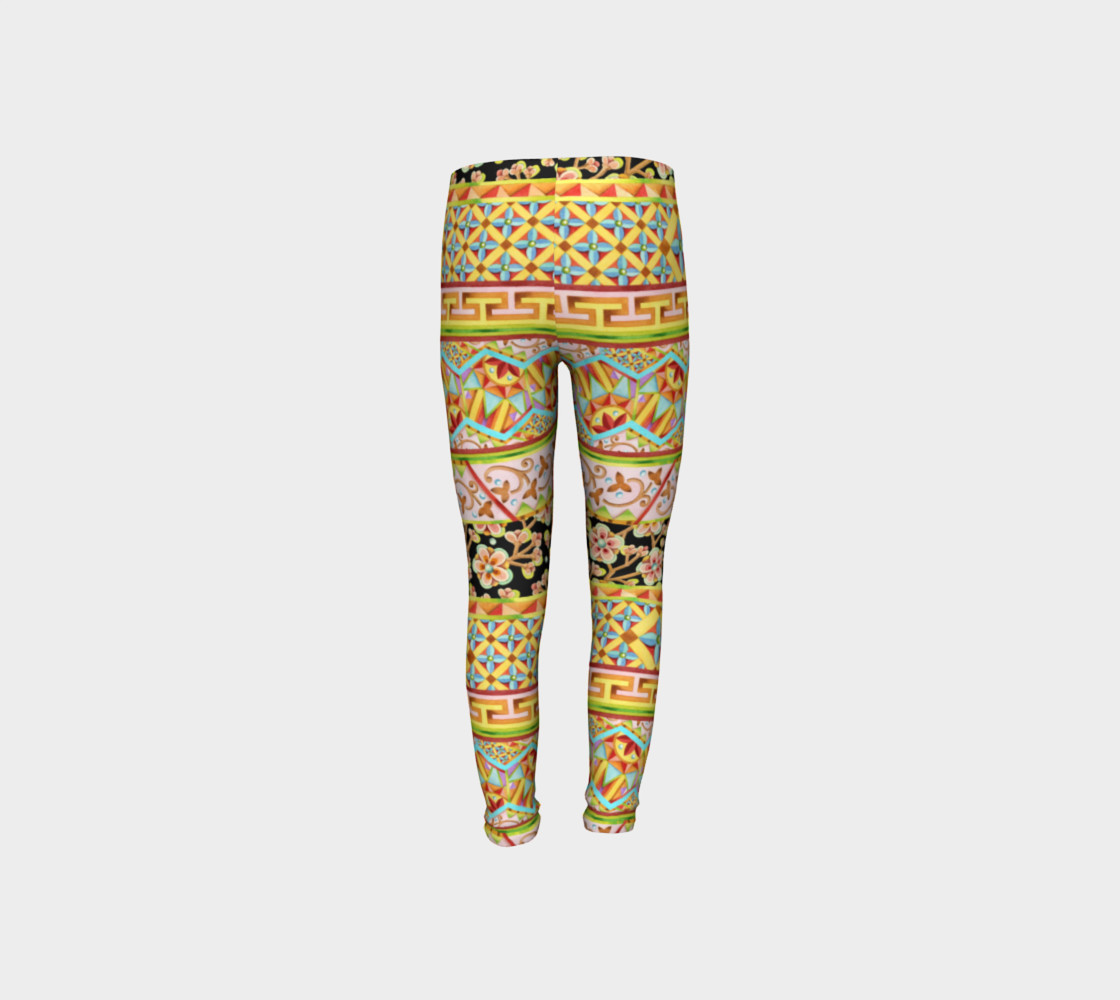 Gypsy Stripe Youth Leggings preview #8