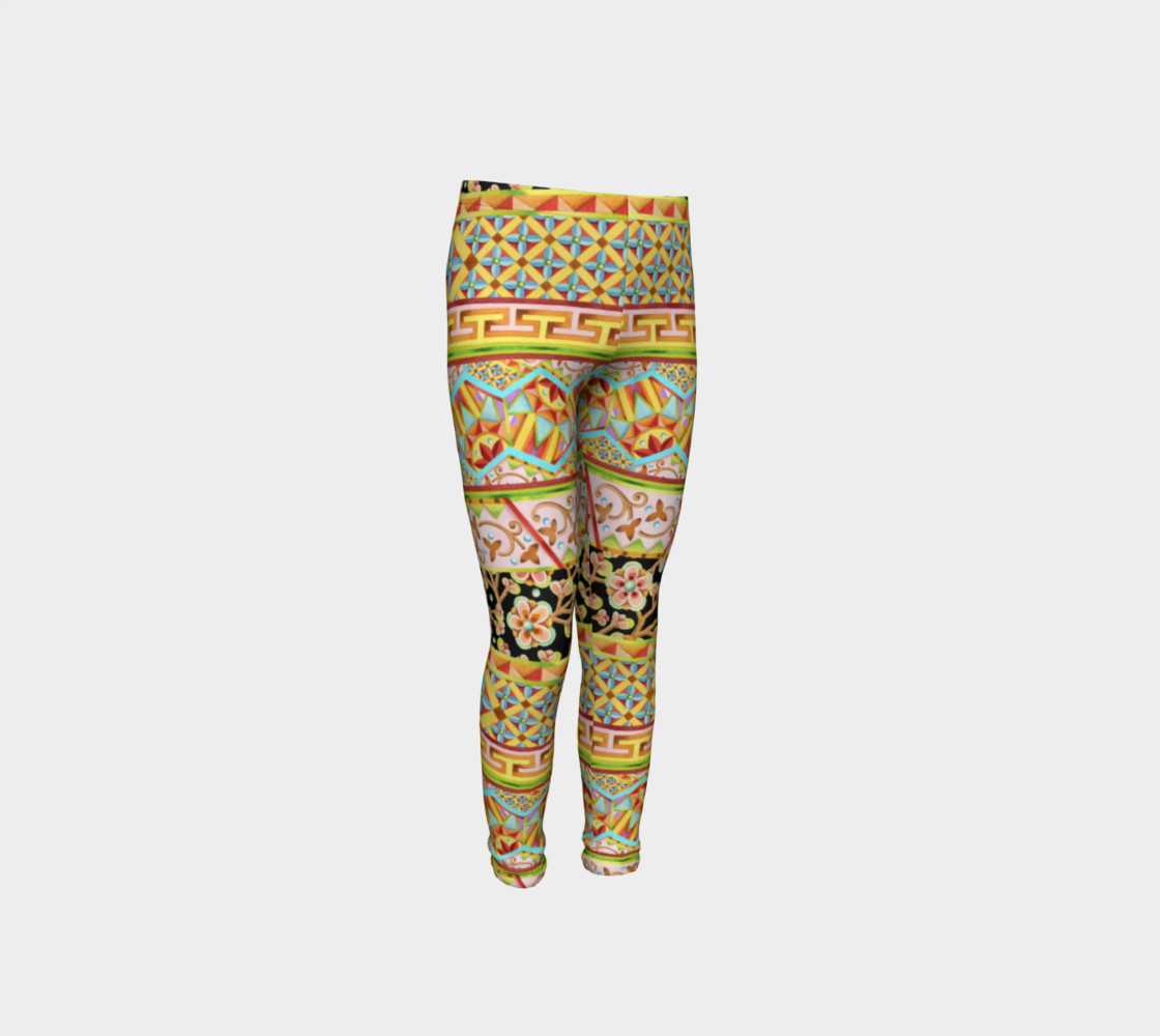 Gypsy Stripe Youth Leggings preview #4
