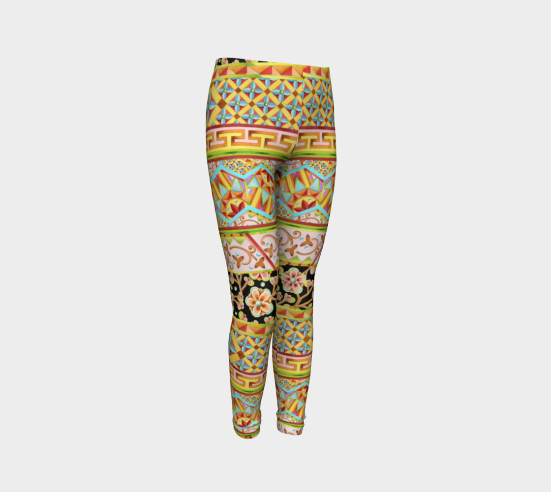 Gypsy Stripe Youth Leggings preview #3
