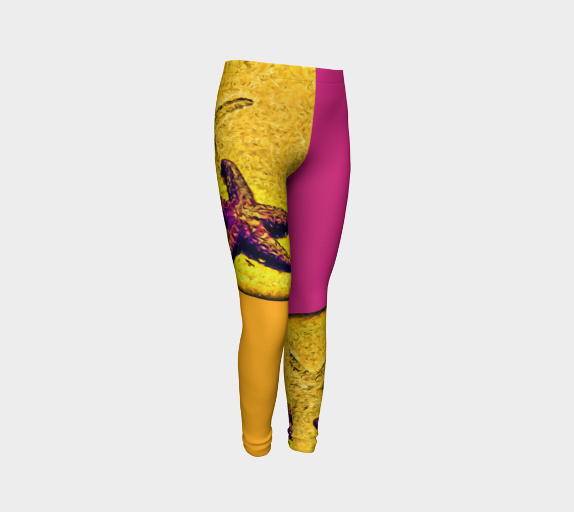 Star Track Youth Leggings preview #3