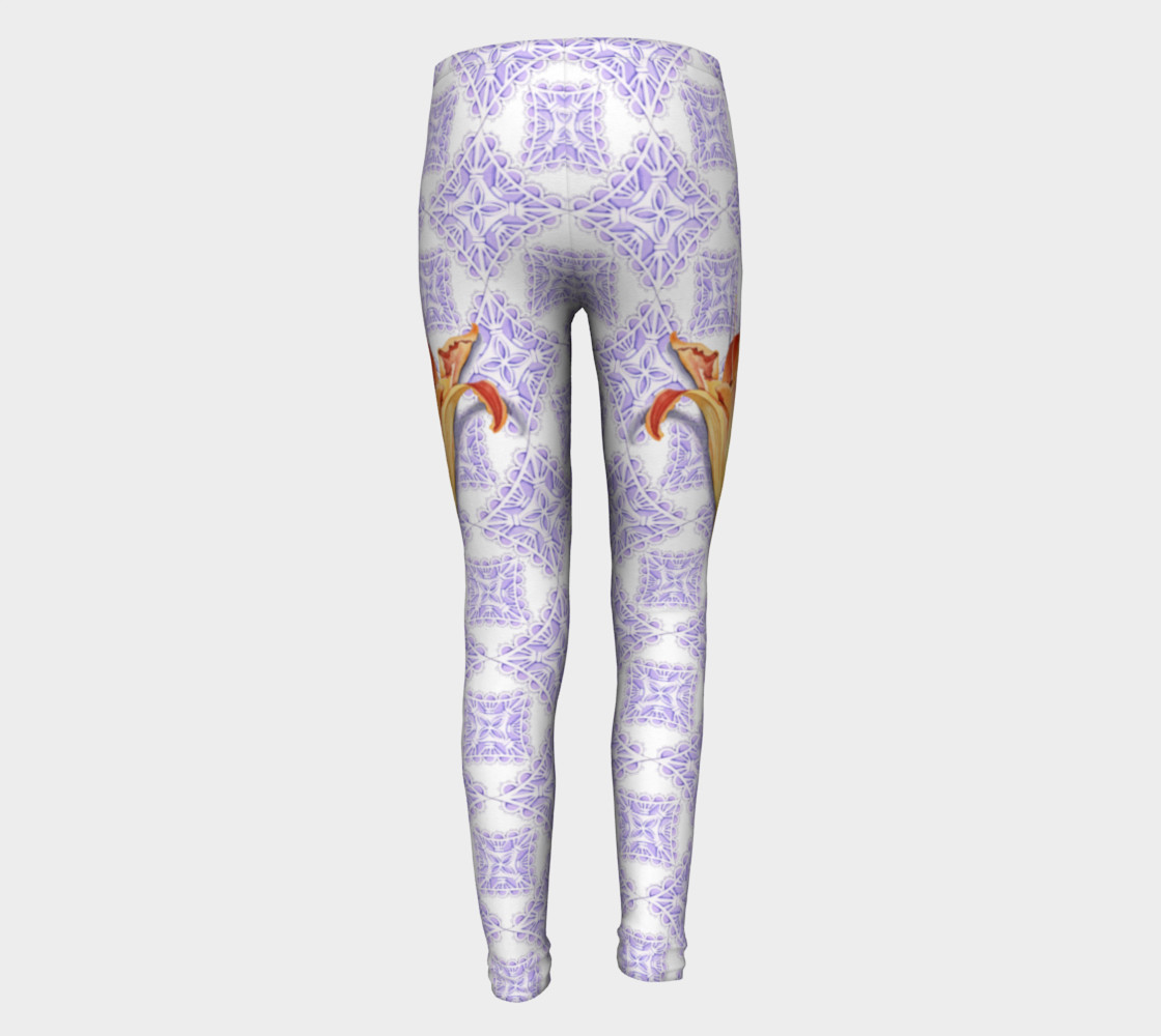 Victorian Daylily Youth Leggings preview #5