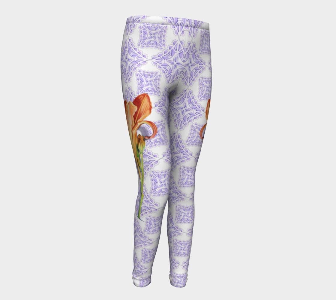 Victorian Daylily Youth Leggings preview #1