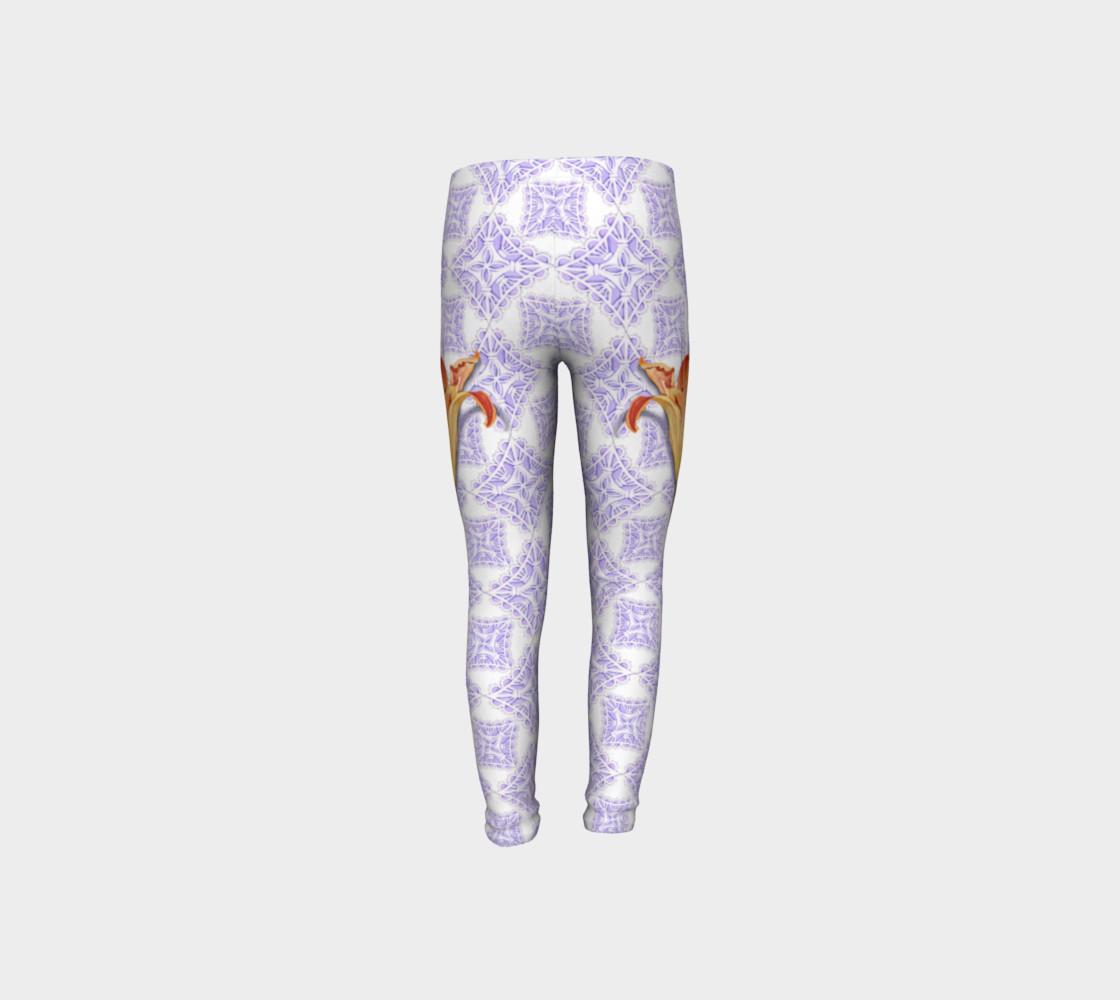 Victorian Daylily Youth Leggings preview #8