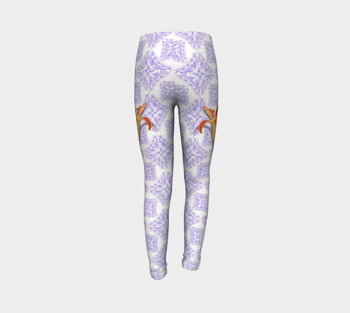 Victorian Daylily Youth Leggings preview #7