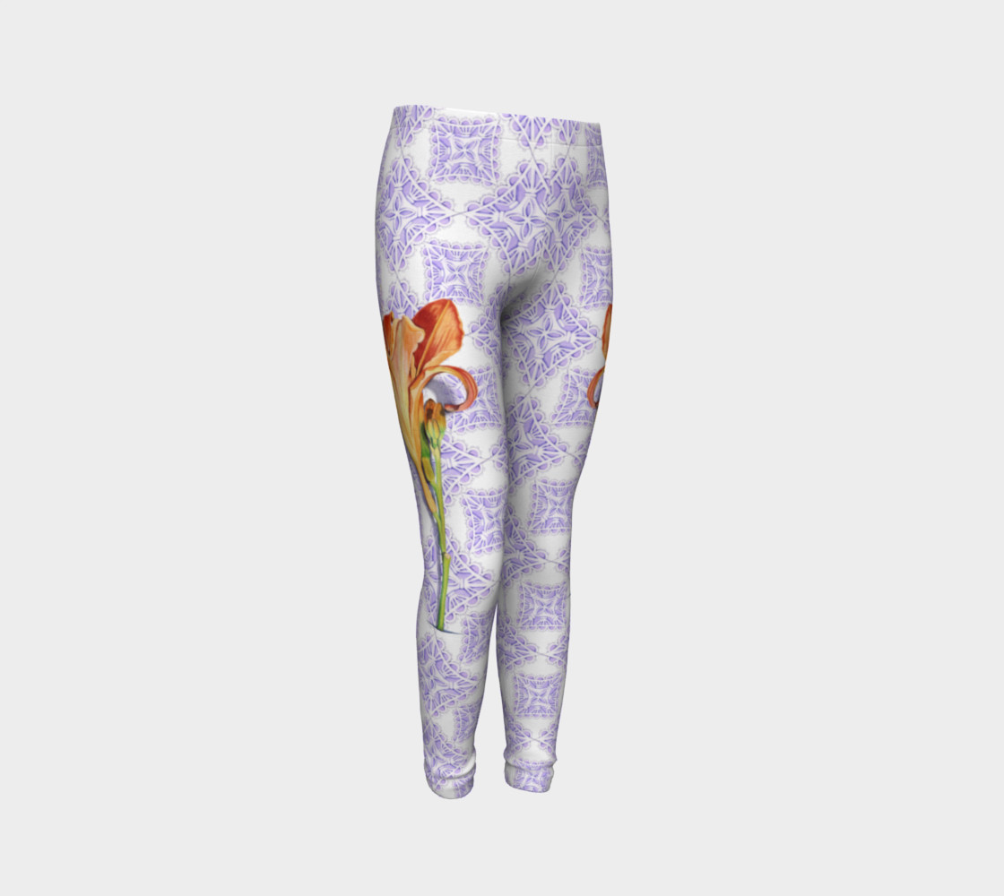Victorian Daylily Youth Leggings preview #3