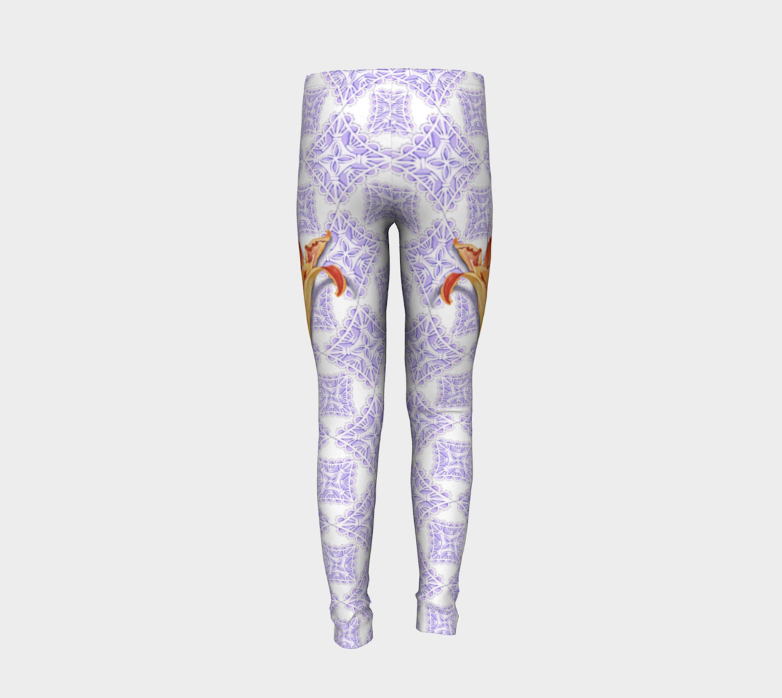 Victorian Daylily Youth Leggings preview #6