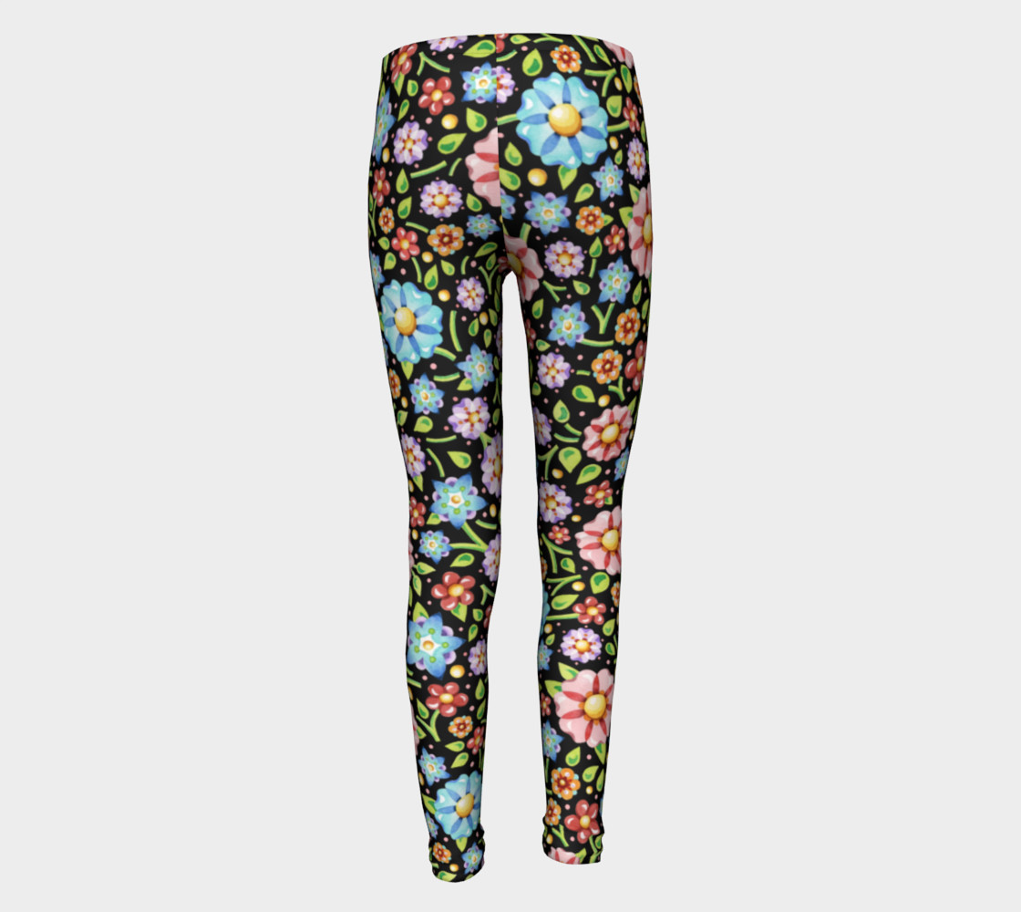 Millefiori Flowers Youth Leggings preview #5